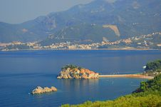 Free Panorama Of Sveti Stefan, Montenegro Royalty Free Stock Photos - 15861078
