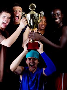 Free Young Group With Trophee Stock Photo - 15861150