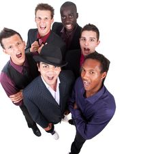 Young Trendy Interracial Businessmen Stock Image