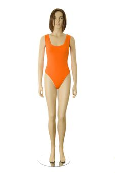 Free Mannequin In Swimsuit | Isolated Royalty Free Stock Photography - 15861307