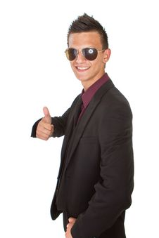 Free Young Trendy Businessman With Sunglasses Royalty Free Stock Photography - 15861347