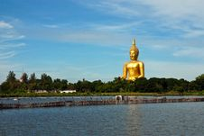 Bigest Buddha In Thailand Royalty Free Stock Photo