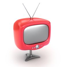 Free Red Retro TV Set Royalty Free Stock Image - 15861566