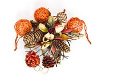 Free Christmas Decorations - Cones, Bomblets Royalty Free Stock Photography - 15861747