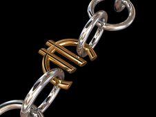 Free Silver Euro Chain Stock Photos - 15862143