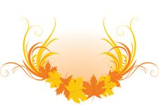 Free Maple Leaves With Floral Ornament Royalty Free Stock Photos - 15862758