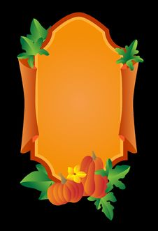 Background With A Pumpkin Royalty Free Stock Photography