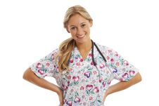 Free Portrait Of Young Nurse With Stethoscope Stock Photography - 15863392