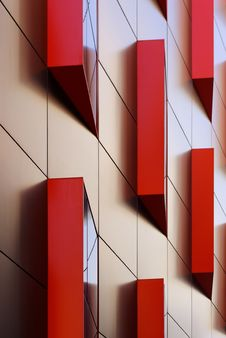 Free Modern Red Window Panels Stock Photography - 15863892