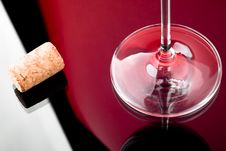 Free Wineglass Legs And Cork Royalty Free Stock Images - 15864729