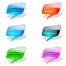Icon Chat Stock Image
