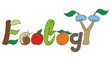 Free Ecology Stylized Letters Royalty Free Stock Image - 15866076