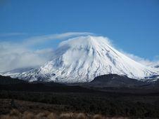 Free Mount Tongariro Covered In Snow Stock Photo - 15866670
