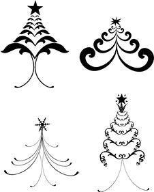Free Decorative Christmas Trees Stock Photography - 15866852