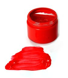 Free Red Finger Paint Royalty Free Stock Image - 15867176