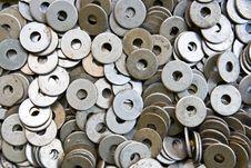 Free Heap Of Circular Metal Nuts Stock Photos - 15867183