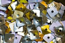 Heap Of Square Metal Nuts Stock Image