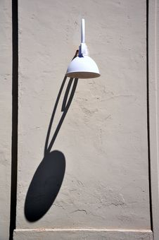 Free Lamp With Long Shadow Stock Photo - 15867530