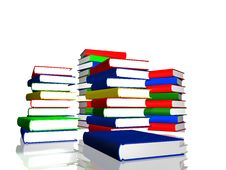 Free Piles Of Color Books Royalty Free Stock Photography - 15867637