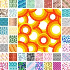 Seamless Retro Patterns Royalty Free Stock Image
