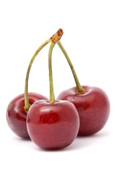Free Three Red Cherries Royalty Free Stock Images - 15867669
