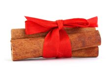 Free Cinnamon With Red Ribbon Stock Image - 15867711