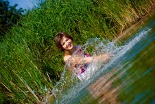 Free Beautiful Girl In Water Royalty Free Stock Images - 15867829