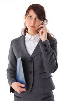 Free Business Woman Talking At Cell Phone Royalty Free Stock Photos - 15867898
