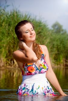 Free Beautiful Girl In Water Royalty Free Stock Photo - 15867925