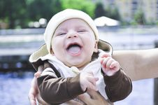 Free Baby Boy Laughter Stock Photos - 15868113