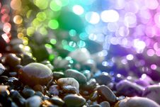 Free Colored Circles And Marine Stones. Royalty Free Stock Image - 15868186