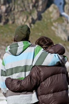 Free Couple In The Mountains Royalty Free Stock Image - 15868706