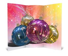 Free 3D Christmas Greeting Card Royalty Free Stock Photography - 15868817