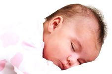 Free Sweet Baby Girl Peaceful And Asleep Royalty Free Stock Photography - 15868987