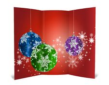 Free 3D Christmas Greeting Card Royalty Free Stock Image - 15869056