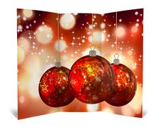 Free 3D Christmas Greeting Card Royalty Free Stock Photography - 15869087