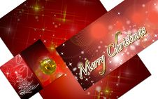 Free 3D Christmas Greeting Card Royalty Free Stock Photos - 15869268