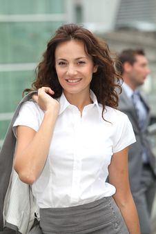 Free Smiling Businesswoman Royalty Free Stock Photography - 15869387