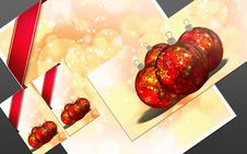 Free 3D Christmas Greeting Card Royalty Free Stock Photos - 15869418