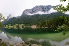 Free Lake  Hintersee  With  Reiteralpe  Stock Images - 15869664