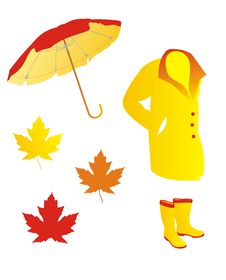 Free Autumn Accessories Icon Set Royalty Free Stock Photo - 15869765