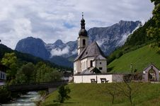 St. Sebastian Parish Church In Ramsau Royalty Free Stock Photos
