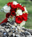 Free Wedding Rings And Bridal Bouquet Stock Images - 15875534