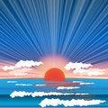 Free Sea Sundown Royalty Free Stock Photos - 15876278