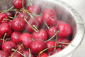 Free Washing A Bowl Of Cherries Stock Images - 15877524