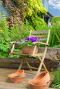 Free Chair And Flowers Royalty Free Stock Images - 15877589