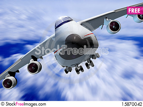 Free A Passenger Plane Stock Photography - 15870042