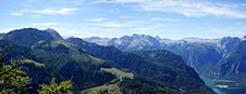 Free View On The Berchtesgaden Alps And Koenigssee Royalty Free Stock Photos - 15870248