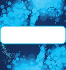 Free Blue Bubbles Copyspace Background Royalty Free Stock Photography - 15870387
