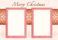 Free Christmas Card To Add Your Picture Royalty Free Stock Images - 15870519